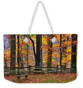 Virginia Country Roads - A Seat With A View - Autumn Colorfest No. 1 Near Mabry Mill - Floyd County Weekender Tote Bag