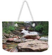 Virginia Falls - Glacier N.p. Weekender Tote Bag
