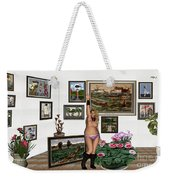 Virtual Exhibition - Girl With Boots Weekender Tote Bag
