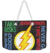 Virtues Of A Superhero 2 Weekender Tote Bag