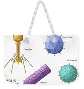 Virus Shapes, Illustration Weekender Tote Bag