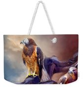 Vision Of The Hawk 2 Weekender Tote Bag