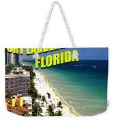 Visit Fort Lauderdal Poster A Weekender Tote Bag