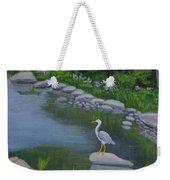 Visiting Heron Weekender Tote Bag
