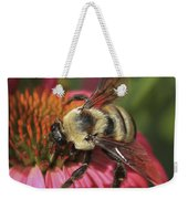 Visitor Up Close Coneflower  Weekender Tote Bag