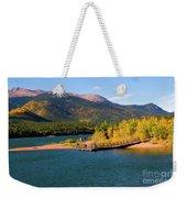 Visitors At Pikes Peak And Crystal Reservoir Weekender Tote Bag