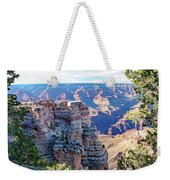 Visitors Dwarfed By Grand Canyon Vista Weekender Tote Bag