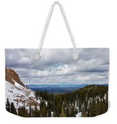 Vista With Snow And Red Rock Weekender Tote Bag