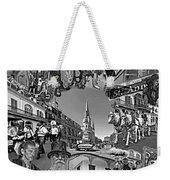 Vive Les French Quarter Monochrome Weekender Tote Bag
