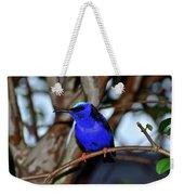 Vivid Blue Weekender Tote Bag
