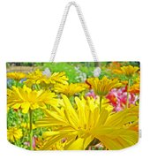 Vivid Colorful Yellow Daisy Flowers Daisies Baslee Troutman Weekender Tote Bag