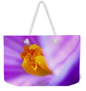 Vivid Crocus Detail Weekender Tote Bag