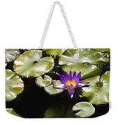 Vivid Purple Water Lilly Weekender Tote Bag