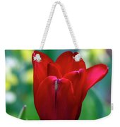 Vivid Red Tulip Weekender Tote Bag