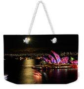 Vivid Sydney Under Full Moon Weekender Tote Bag