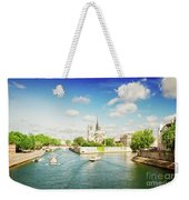 Notre Dame And River Seine Weekender Tote Bag