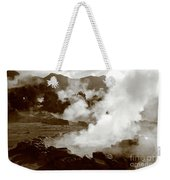 Volcanic Steam Weekender Tote Bag