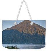 Volcano And Reflection Lake Atitlan Guatemala Weekender Tote Bag