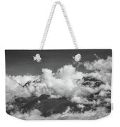Volcano Chachani In Arequipa Peru Covered By Clouds Weekender Tote Bag