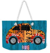 Volkswagen Vw Bug Vintage Classic Retro Vehicle Recycled License Plate Art Usa Weekender Tote Bag
