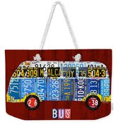 Volkswagen Vw Bus Vintage Classic Retro Vehicle Recycled License Plate Art Usa Weekender Tote Bag