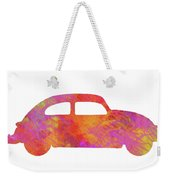 Volkswagom Beetle Art Flames Weekender Tote Bag