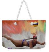 Volleyball Dig Weekender Tote Bag