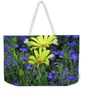Voltage Yellow And Electric Blue 06 Weekender Tote Bag