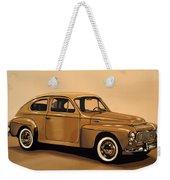Volvo Pv 544 1958 Painting Weekender Tote Bag