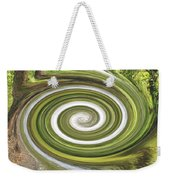 Vortex - River Frays Abstract Weekender Tote Bag