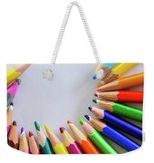 Vortex Of Colored Pencils Weekender Tote Bag