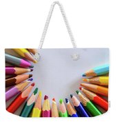 Vortex Of Colored Pencils On The Sheet Of Paper Weekender Tote Bag