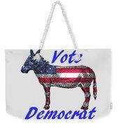 Vote Democrat Weekender Tote Bag