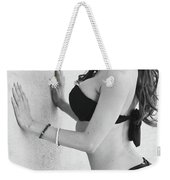 Voula Black And White Bikini Weekender Tote Bag