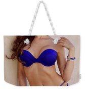 Voula Blue Bikini Weekender Tote Bag