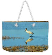 Wadding Wood Stork And Reflection Weekender Tote Bag
