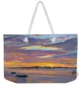 Wades Beach Sunset Weekender Tote Bag