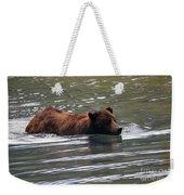 Wading Brown Bear Weekender Tote Bag