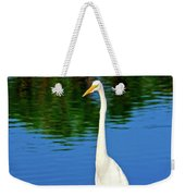Wading Great White Egret Weekender Tote Bag