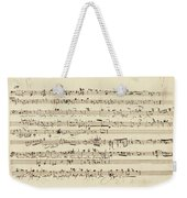 Wagner, Richard Autograph Working Drafts For Act I Of Der Fliegende Hollander Weekender Tote Bag