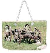 Wagon Aged Weekender Tote Bag