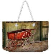 Wagon - That Old Red Wagon  Weekender Tote Bag