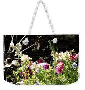 Wagon Wheel And Flowers Weekender Tote Bag