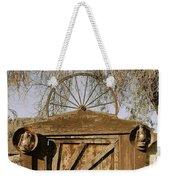 Wagon Wheel Gate Weekender Tote Bag