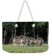 Wagon Wheels Reflecting In A Pond Weekender Tote Bag