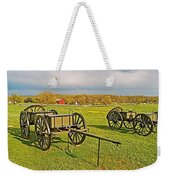 Wagons Used In The Civil War In Gettysburg National Military Park-pennsylvania Weekender Tote Bag