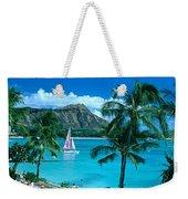 Waikiki And Sailboat Weekender Tote Bag