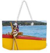 Waikiki Canoe Paddles Weekender Tote Bag