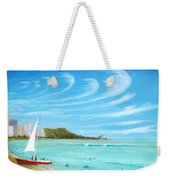 Waikiki Weekender Tote Bag by Jerome Stumphauzer
