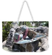 Waikiki Statue - Surfer Boy And Seal Weekender Tote Bag